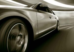 Mousepad groß Auto im Tunnel aus Vinyl