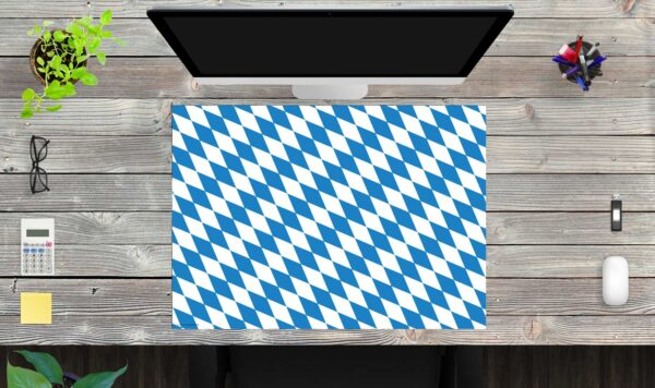 Schreibtischunterlage Flagge Bayern aus Vinyl