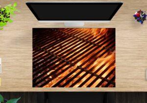 Schreibtischunterlage Grillrost aus Vinyl