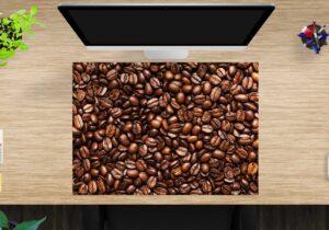 Schreibtischunterlage groß Kaffeebohnen aus Vinyl