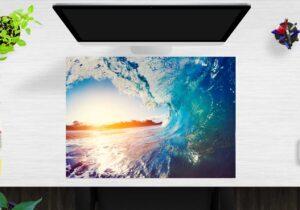 Schreibtischunterlage Die perfekte Welle aus Vinyl