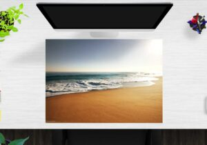 Schreibtischunterlage Am Strand aus Vinyl