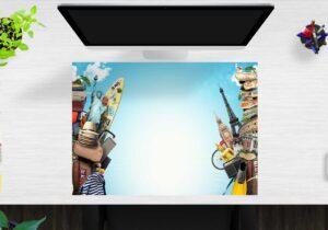 Schreibtischunterlage Reiselust aus Vinyl