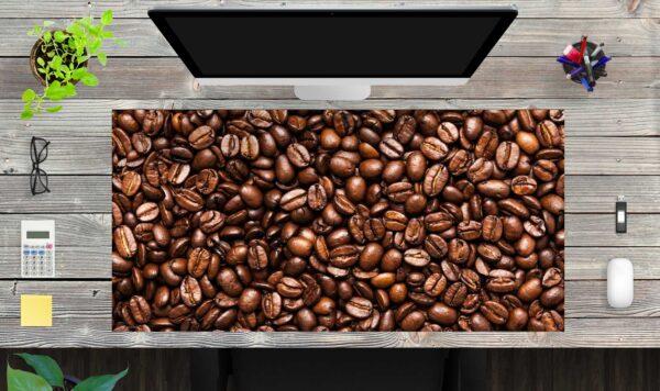 Schreibtischunterlage XXL Kaffeebohnen aus Vinyl