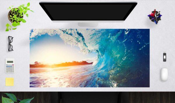 Schreibtischunterlage groß Die perfekte Welle aus Vinyl