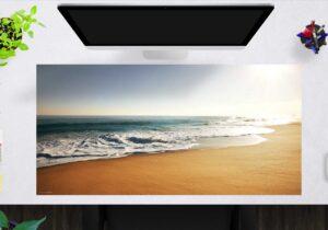 Schreibtischunterlage groß Am Strand aus Vinyl