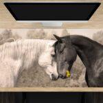 Schreibtischunterlage Liebende Pferde aus Vinyl