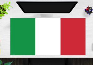 Schreibtischunterlage Flagge Italien aus Vinyl