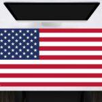 Schreibtischunterlage Flagge USA aus Vinyl
