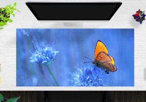 Schreibtischunterlage Schmetterling aus Vinyl