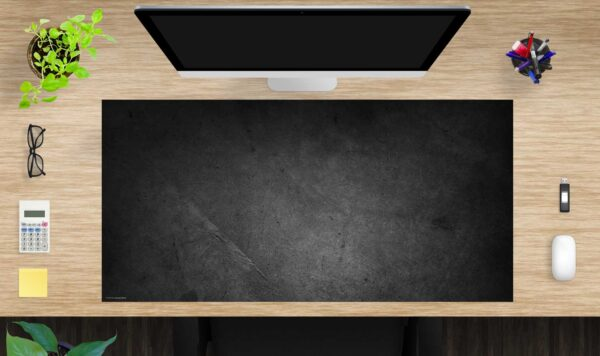 Schreibtischunterlage groß Schieferplatte schwarz aus Vinyl