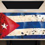 Schreibtischunterlage XXL Flagge Kuba retro aus Vinyl