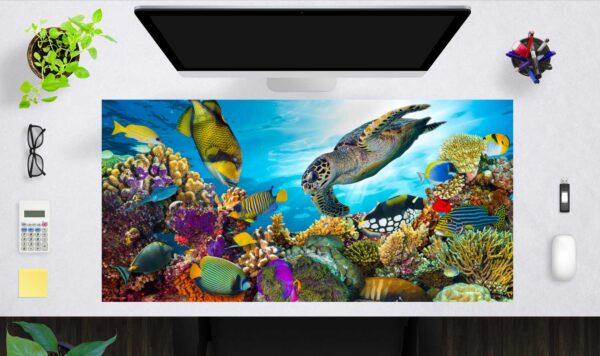 Schreibtischunterlage groß Unterwasserwelt aus Vinyl