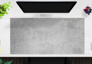 Schreibtischunterlage Betonoptik hell aus Vinyl