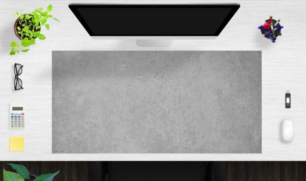 Schreibtischunterlage Betonoptik dunkel aus Vinyl