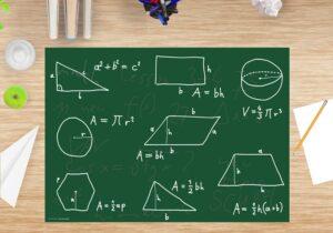 Schreibtischunterlage Mathematik mit Lerneffekt aus Vinyl