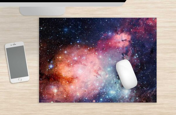 Mousepad entfernte Galaxie groß aus Vinyl