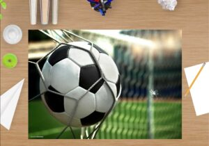 Schreibtischunterlage Fußball aus Vinyl