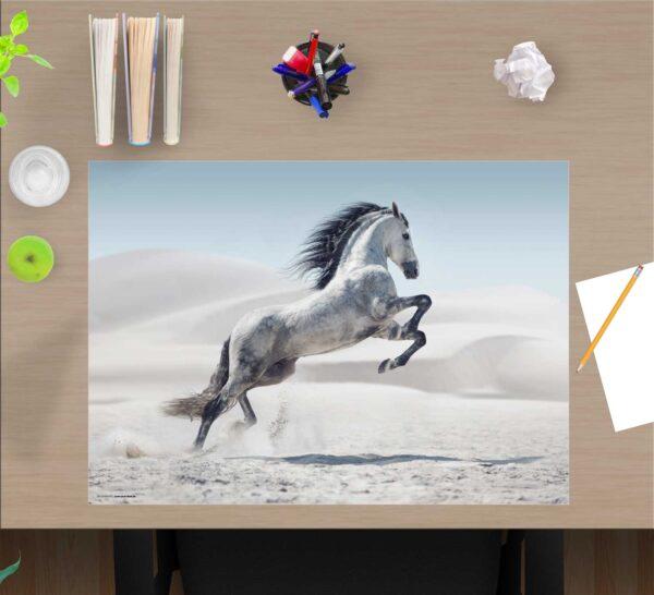 Schreibtischunterlage Pferd aus Vinyl