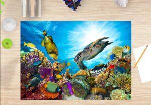 Schreibtischunterlage Unterwasserwelt, aus Vinyl