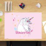 Schreibtischunterlage Unicorn, für Kinder, aus Vinyl