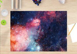 Schreibtischunterlage Entfernte Galaxie aus Vinyl
