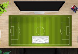Schreibtischunterlage XXL - Fußballfeld - aus Vinyl