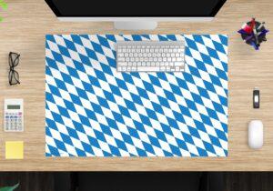 Schreibtischunterlage - Flagge Bayern - aus Vinyl