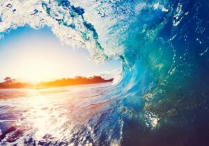 Schreibtischunterlage - Die perfekte Welle - aus Vinyl