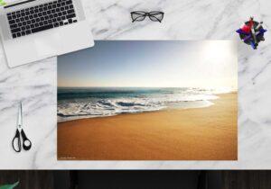 Schreibtischunterlage - Am Strand - aus Vinyl