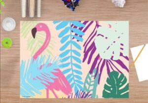 Schreibtischunterlage - Flamingo - aus Vinyl