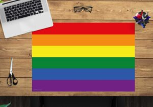 Schreibtischunterlage Flagge Regenbogen - aus Vinyl