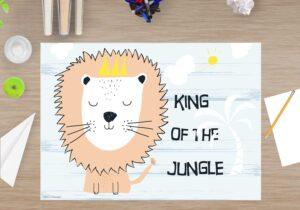 Schreibtischunterlage - King of the Jungle - aus Vinyl