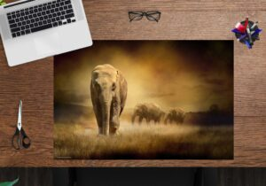 Schreibtischunterlage - Elefant - aus Vinyl