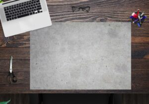 Schreibtischunterlage - Betonoptik hell - aus Vinyl