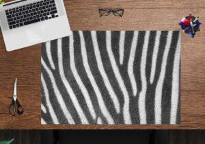 Schreibtischunterlage - Zebra Muster - aus Vinyl