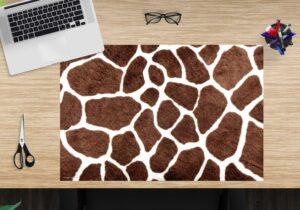 Schreibtischunterlage - Giraffen Muster - aus Vinyl