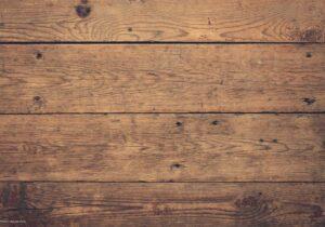 Schreibtischunterlage - Holzoptik braun - aus Vinyl
