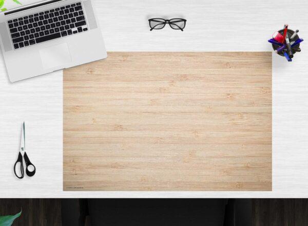 Schreibtischunterlage - Holzoptik hellbraun - aus Vinyl