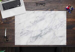 Schreibtischunterlage - Marmor - aus Vinyl