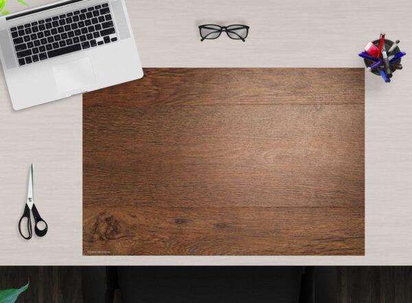 Schreibtischunterlage - Holzplatte - aus Vinyl