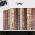 Schreibtischunterlage - Holzoptik gestreift - aus Vinyl
